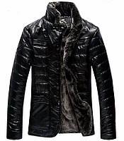 Кожаная мужская куртка.Дубленка мужская.Зимняя куртка.