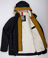 Демисезонная куртка парка на мальчика 7 - 12 лет