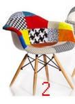 Кресло Eames Patchwork (ножки деревянные) CoolArt