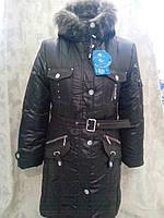 Зимняя куртка-пальто на девочку