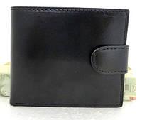 Маленький женский кожаный кошелёк  ( Италия) Черный