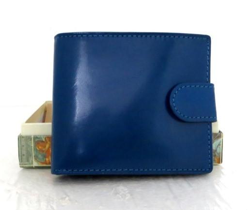 Маленький жіночий шкіряний кошельок (Італія) Синій, фото 1