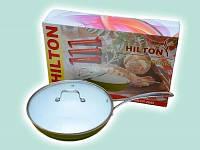 Сковородка HILTON FP 2845 d28см с крышкой керамика (4,5мм)