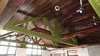Декоративная обшивка потолков деревом