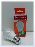 Светодиодная лампа Electrum A50 6W 4000K
