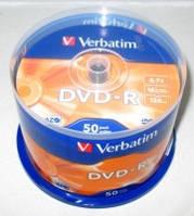 """Диски VERBATIM DVD - R CB """"50"""" 16x"""