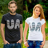"Пара футболок ""UA"" (біле й чорне)"