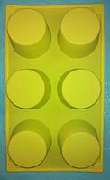 Силиконовая форма для выпечки 6 ячеек