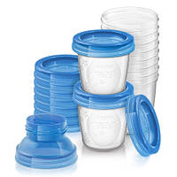 AVENT Контейнеры для хранения молока (10шт*180мл), SCF618/10