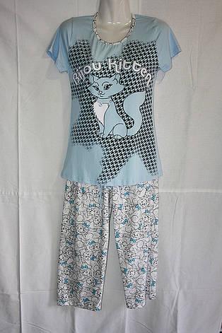 "Пижама футболка+бриджи ""Кот"", фото 2"