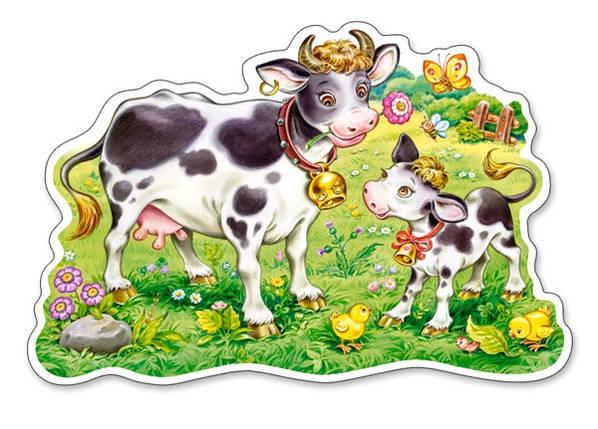 Пазлы 12 элементов Castorland Maxi 120062 Коровки на лугу, фото 2