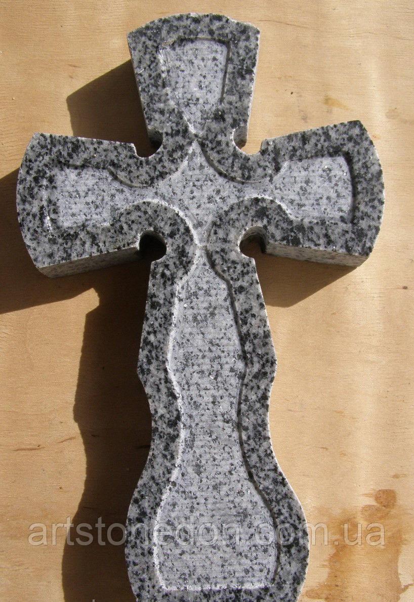 Крест резной из покостовского гранита - Памятники, скульптура и иконы АртСтоун  в Житомирской области
