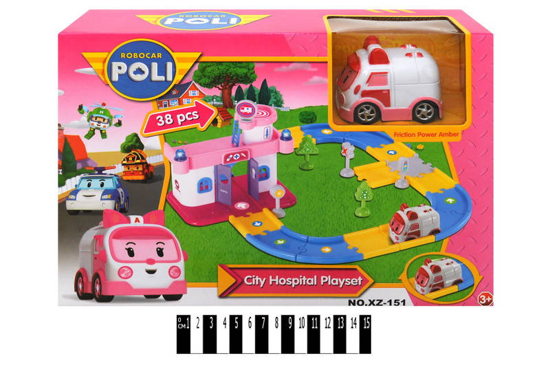 """Гараж для машин """"робокар поли"""" (больница) xz-151"""