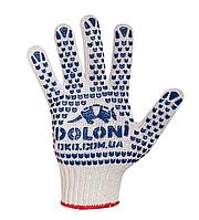 Трикотажные перчатки с ПВХ-рисунком (547) ТМ DOLONI / Украина