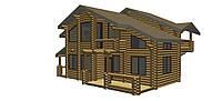 Дом из сруба 11x10