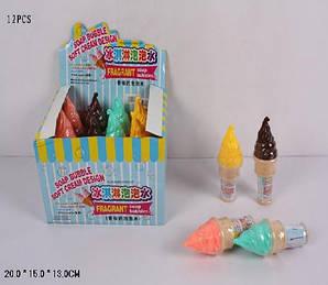 """Мыльные пузыри 78, в виде """"мороженое"""", 4 цвета, по 12 шт. в коробке: 20х15х13 см"""