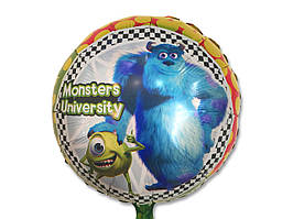 """Воздушные шарики оптом. Шарик фольгированный """"Школа Монстров"""" диаметр 45см."""
