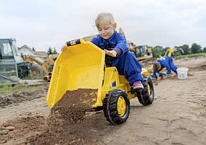 Трактор педальный с ковшом Kid Dumper Caterpillar Rolly Toys 24179, фото 3