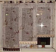 Японские занавески Газетка на петлях, фото 1
