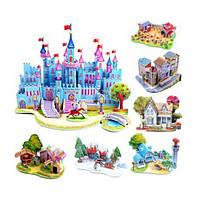 3D пазл Замок принцессы, домик игрушка картон