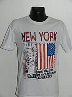 Футболка мужская с американским флагом три цвета Турция Paradise размер M, L, XL, XXL белый, XL