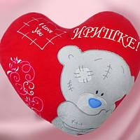 Подушка — сердечко с медведем