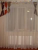 Жесткий ламбрекен Ноты 2м с хвостиками