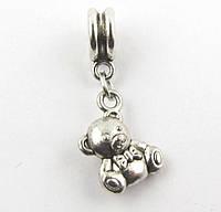 Шарм-подвеска Мишка для браслета Pandora (пандора) серебро