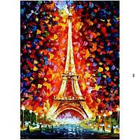 Картина по номерам Роспись на холсте Эйфелевая башня в огнях KH076