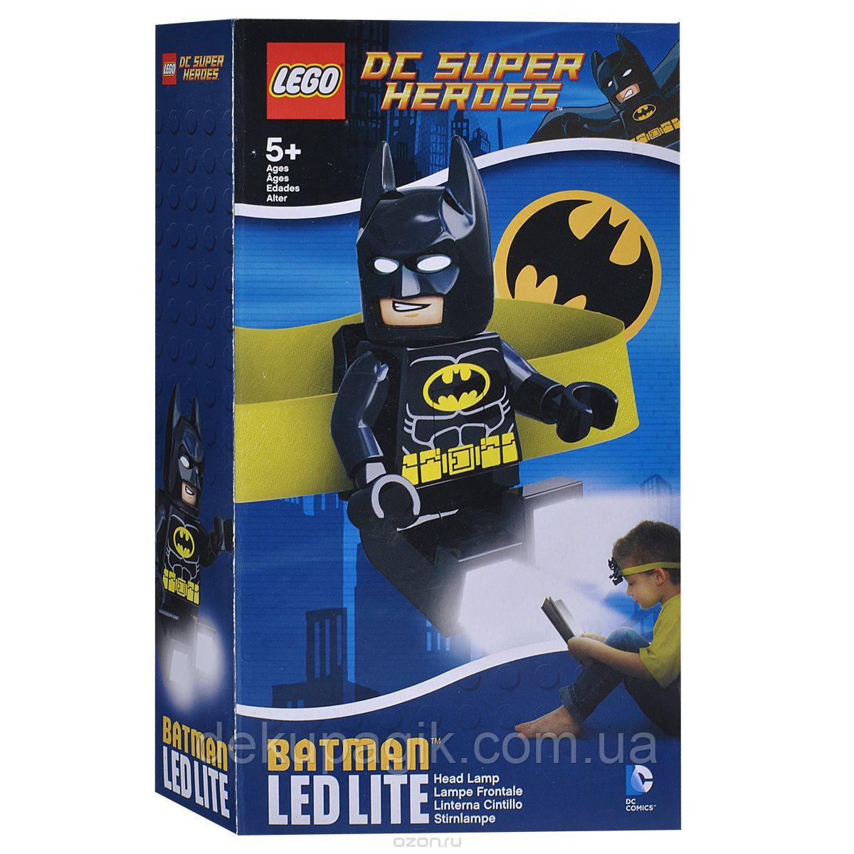 Лего фонарик Супер Герои Бэтмен налобный LGL-HE8