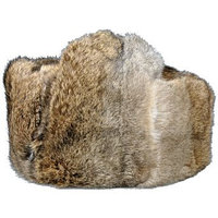 Шапка с кролика, коричневая