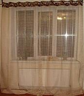 Тюль на люверсах  Клетка, фото 1