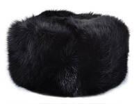 Шапка с кролика, черным цветом