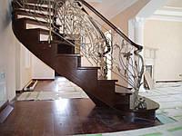 Лестница из массива дуба, фото 1