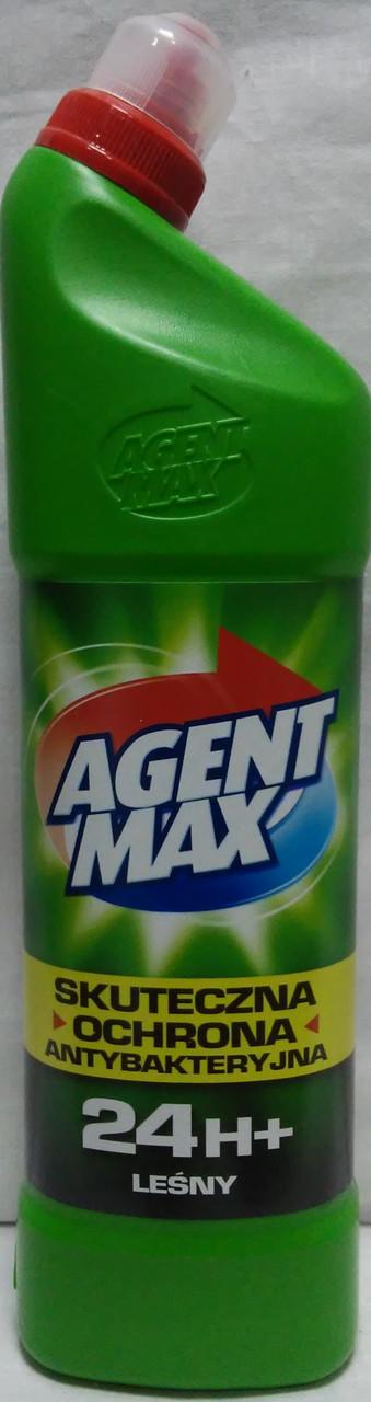 Средство для чистки унитаза Agent Max лесной  антибактериальное