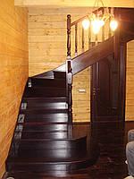 Лестница из массива дерева, фото 1