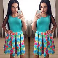 """Стильное платье """"Разноцветные сердечки"""" в разных цветах. Артикул SM12"""