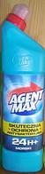 Средство для чистки унитаза Agent Max морской антибактериальное