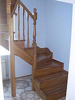 Деревянная Лестница маршевая из ясеня Киев