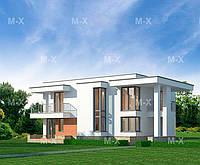 MX119. Двухэтажный коттедж в современном стиле