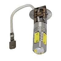 Лампа светодиодная 12V H3 7,5W COB (5х1,5W) Белая (21100)