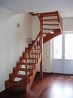 Деревянная Лестница из ясеня Киев