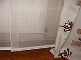 Комплект штор и тюль панельки Иероглифы, фото 2