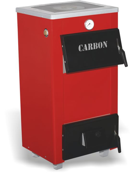 Котел с чугунной плитой Carbon КСТО мощностью 18 П (Карбон)