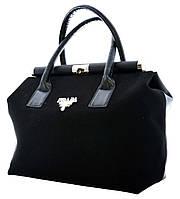 Комбинированная женская сумка Prada (Прада), чёрная