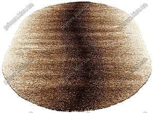 """Ворсистый ковер shaggy Маджести """"Волна"""",  коричнево-бежевый"""