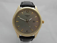 Мужские часы  TISSOT 1853 - кварцевые, золотистый корпус, серебряный циферблат