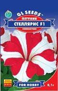 Семена Петунии Стелярис F1 красная с белой звездой