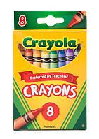 8 шт разноцветные стандартные восковые карандаши CRAYOLA crayons 8 count.Прямая поставка Америка