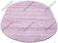 Ворсистый ковер shaggy Маджести однотонный, розовый